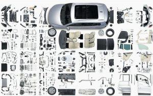 voiture décomposée